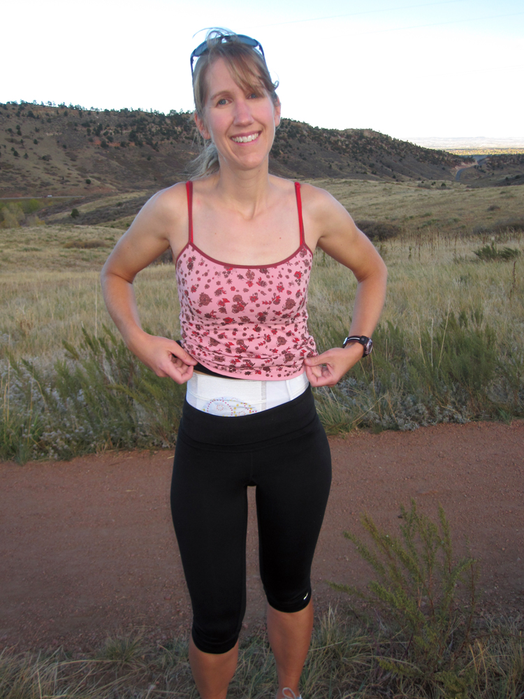 I always wear a Nu-Hope hernia prevention belt when I run.