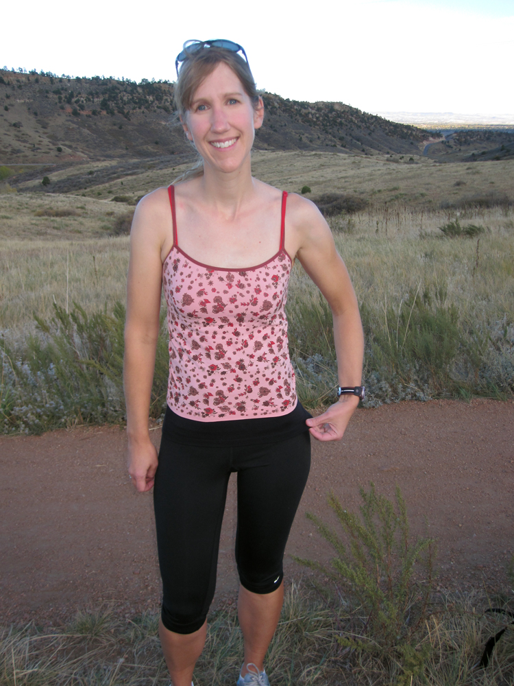 The My Hip-t held my hernia prevention belt in place well and helped conceal it-- even in form-fitting running clothing.