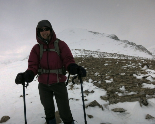 We reached a high point of 13,000' on the shoulder of Quandary Peak. The summit can be seen in the distance.
