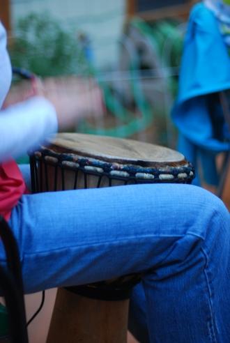 Drum circle fun.