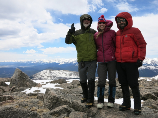 On the summit of 13,5751 Rosalie Peak on May 26, 2013.