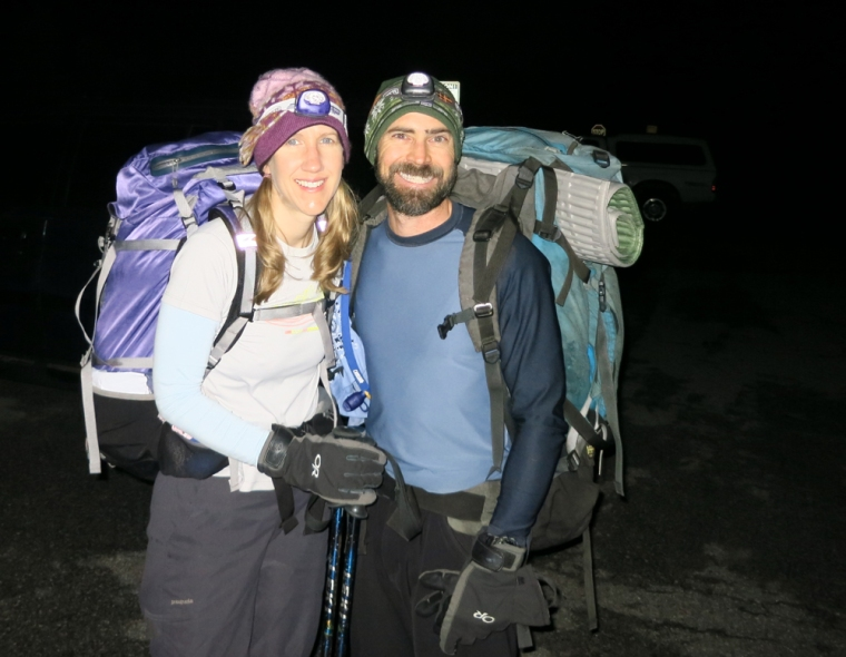 Yet another 3 a.m. alpine start as we leave for Turner Peak.