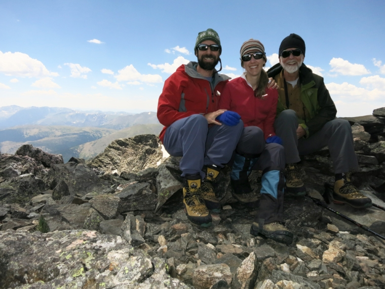 On the summit of Mt. Ypsilon. The next time we are at this elevation will be during our Mt. Rainier trip.