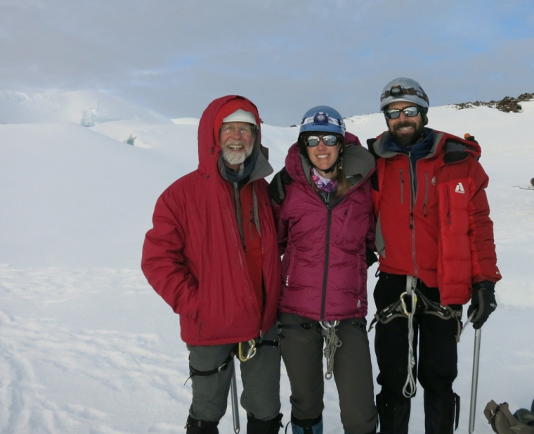 Peter, Doug and I on the top of Rainier!