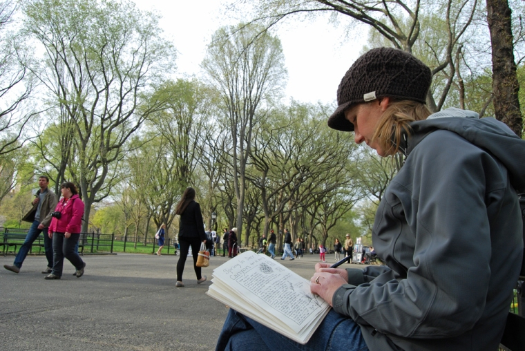 Central-park-sketching