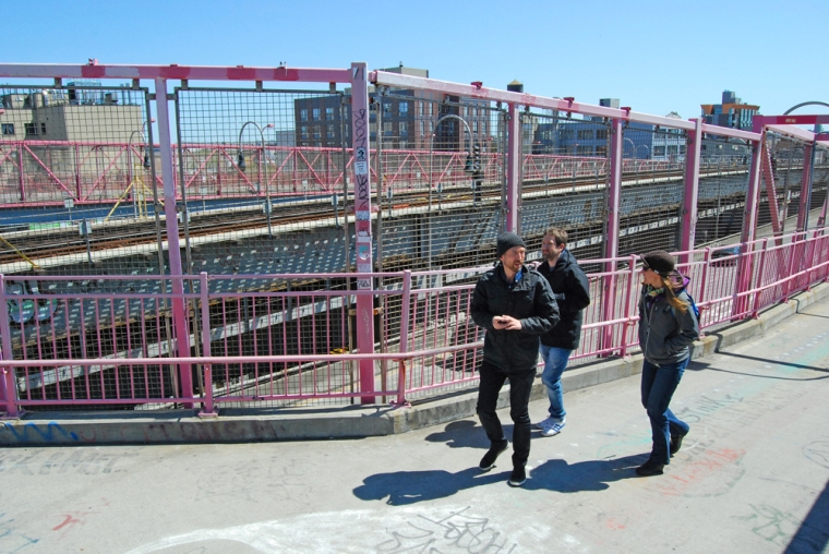 My feet feel happy on our initial day of sightseeing in NYC as brothers and I walk across the Williamsburg Bridge. From there we walked to China Town, Little Italy and eventually Lower Manhattan. After five days of pounding concrete on such adventures, I can barely walk!