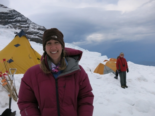 At our high camp the night before our summit attempt