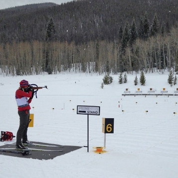 Our vacation included to days of biathlon racing.